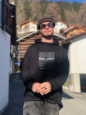 """Koncept in the """"Champagne Thank You"""" Hoodie in Switzerland"""