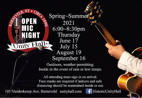 Open Mic Night 2021-Spring-Summer-Dates.