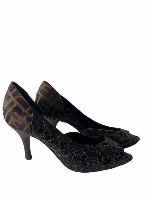 Fendi Zucca heels