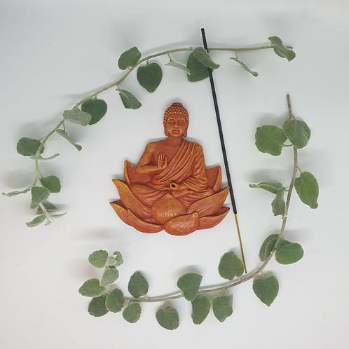 Orange Buddha Incense Holder