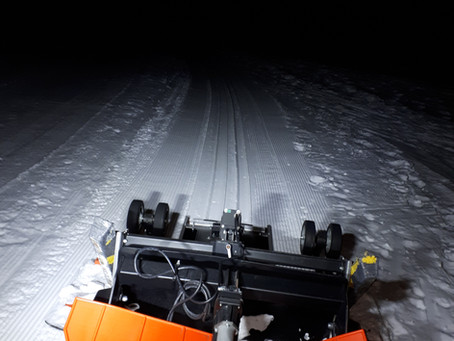 February 19 Update:   Grooming and track setting is done, we're ready for the weekend!