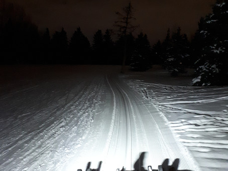 February 18 grooming update:  early morning grooming complete, some track setting completed.