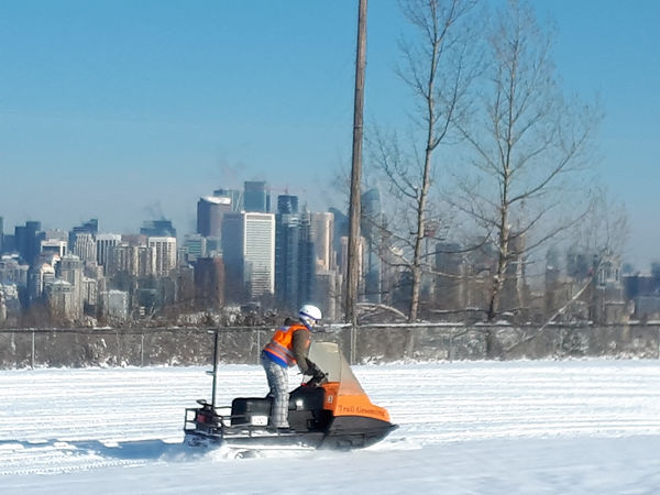 Kate Skidoo track packing and downtown 2