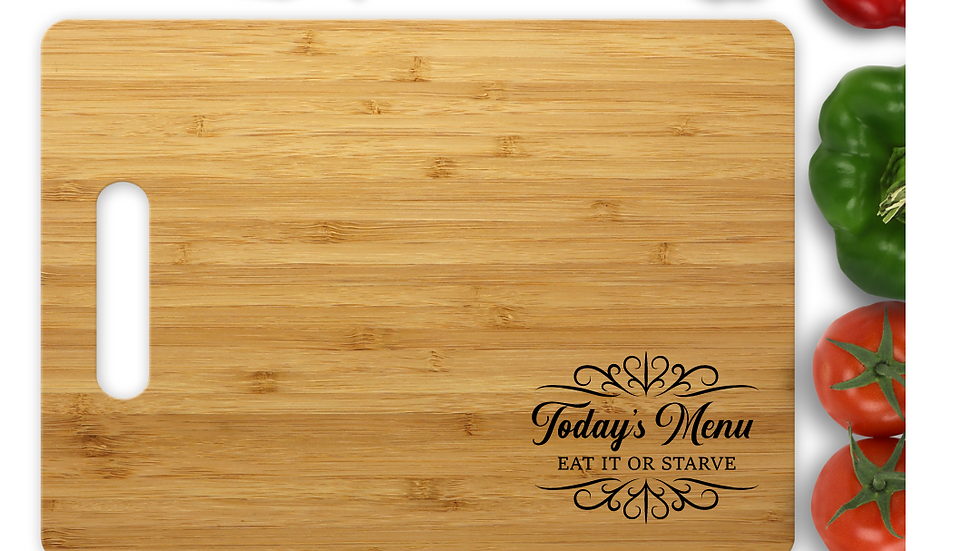 Larger 15 by 11 inch - Cutting Boards with free spoon