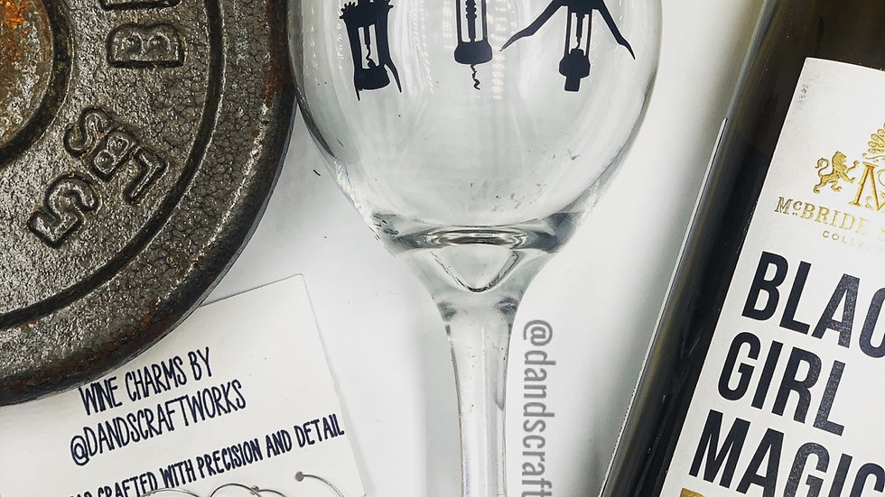 Workout glass with charms