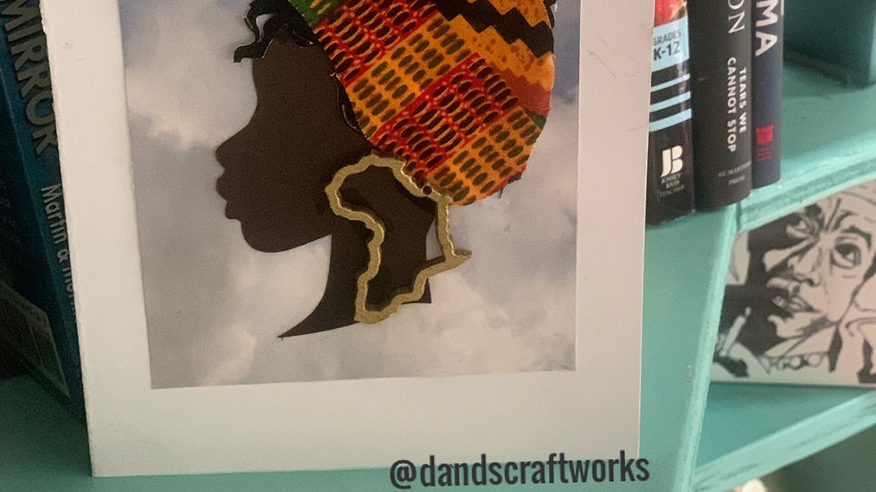 Kente card with African earrings