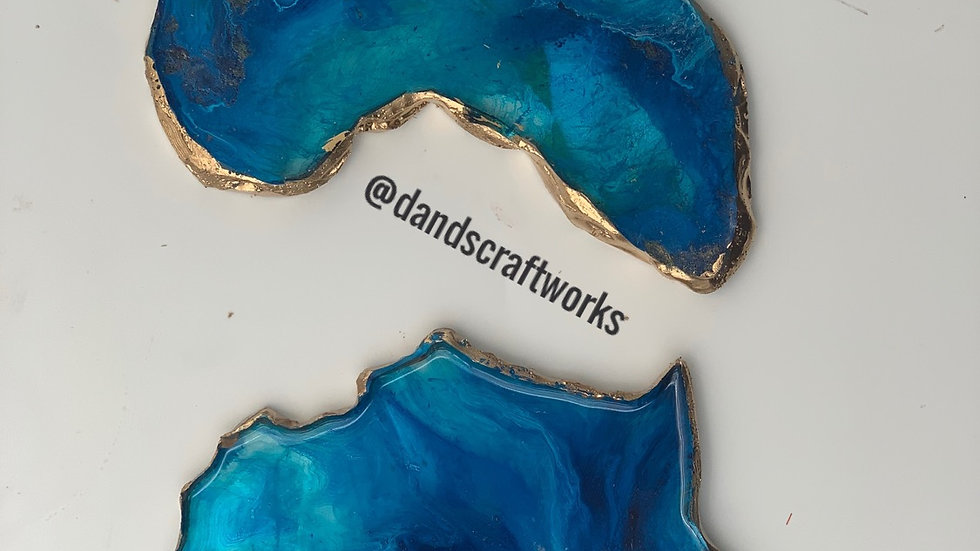 Africa Coasters Blue wave