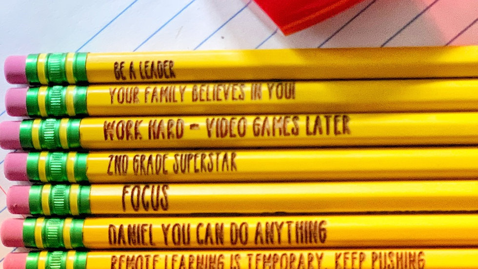 Mantra Pencils with personalized 2 pencils