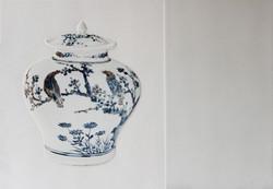 Tao_Birds and wild chrysanthemums, 56.5 x 40.7cm, Ceramic, 2015