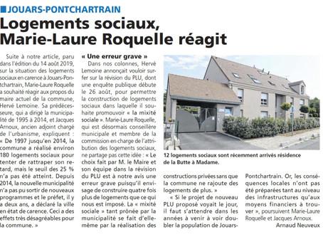 Logements sociaux - réponse de M.L. Roquelle