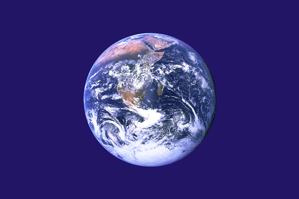 The flag that symbolized Earth Day.