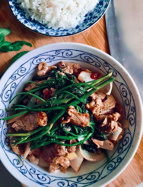 Kang Kong, Pork & Pepper Stir-Fry