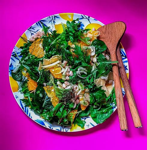 Orange, Fennel, White Bean Salad