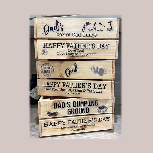Father's Day Personalised Gift Crate