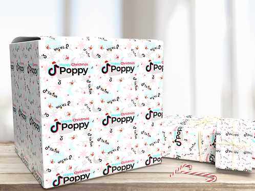 Personalised Christmas Tik Tok Wrapping Paper | Special Christmas Gift Wrap