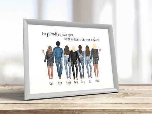 Personalised Friend / Best Friend A4 Framed Print