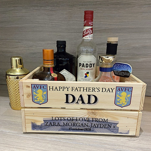 Personalised Football Theme Wooden Crate