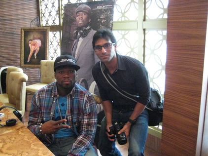 Faraz Javed with 50 Cent