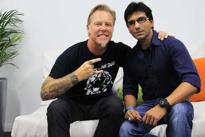 Faraz Javed with James Hetfield