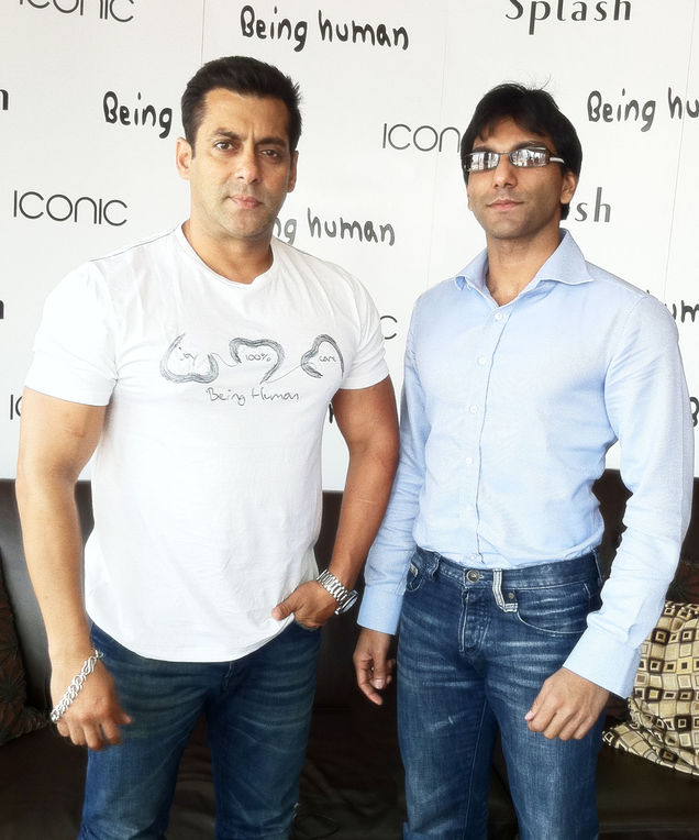 Faraz Javed with Salman Khan