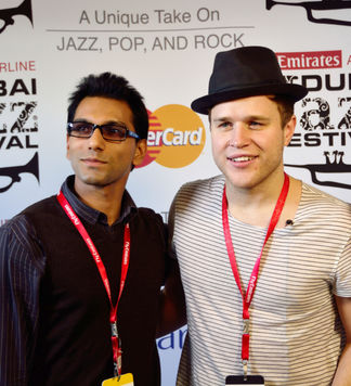 Faraz Javed with Olly Murs