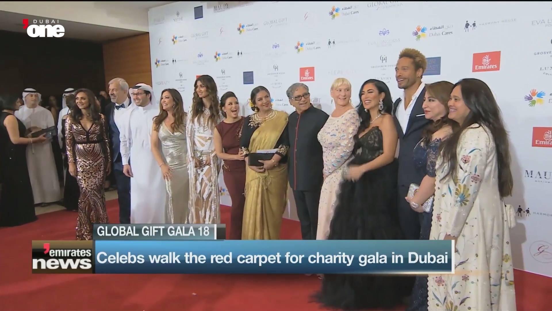 Stars shine at the Global Gift Gala in Dubai