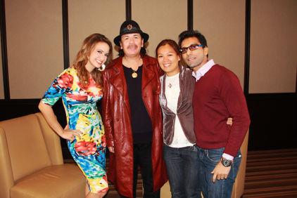 Faraz Javed with Carlos Santana