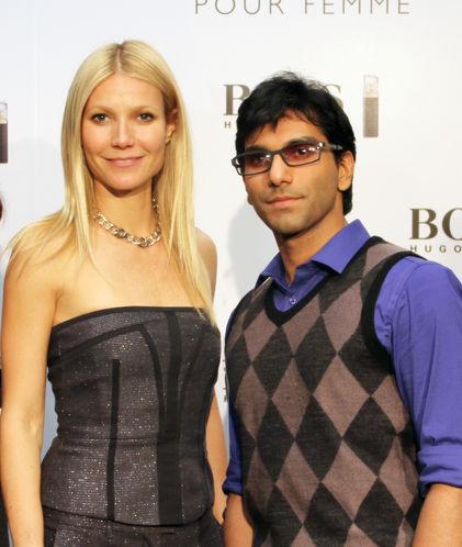 Faraz Javed with Gwyneth Paltrow
