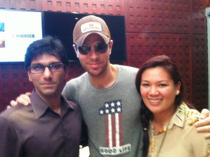 Faraz Javed with Enrique Iglesias