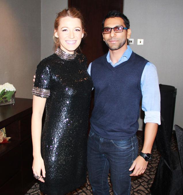 Faraz Javed with Blake Lively