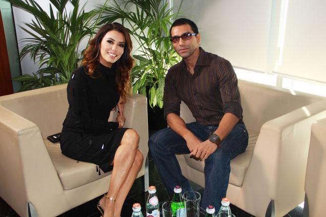 Faraz Javed with Eva Longoria