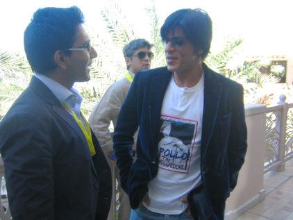 Faraz Javed with Shahrukh Khan