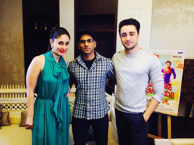 Faraz Javed with Kareena Kapoor & Imran Khan