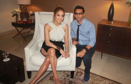 Faraz Javed with Jennifer Lopez