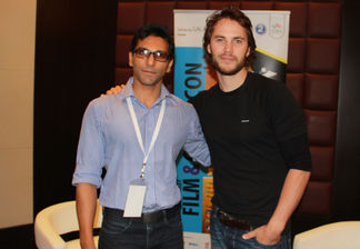Faraz Javed with Taylor Kitsch