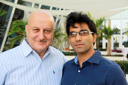 Faraz Javed with Anupam Kher