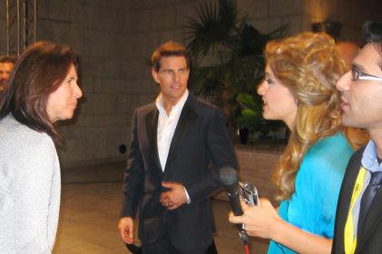 Faraz Javed with Tom Cruise