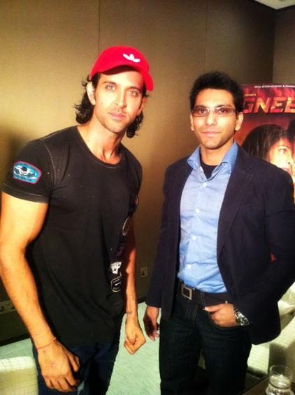 Faraz Javed with Hrithik Roshan