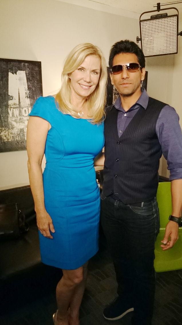 Faraz Javed with Katherine Kelly Lang