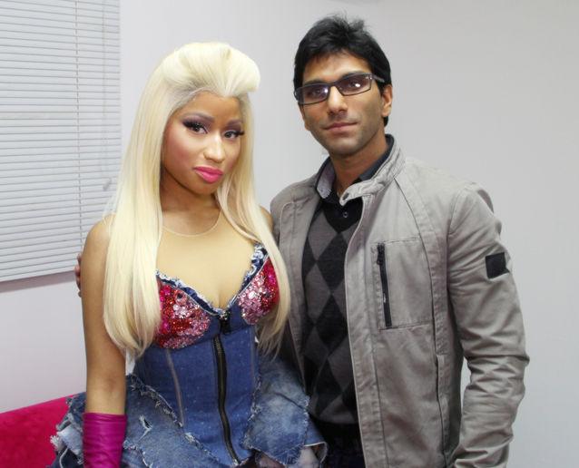 Faraz Javed with Nicki Minaj