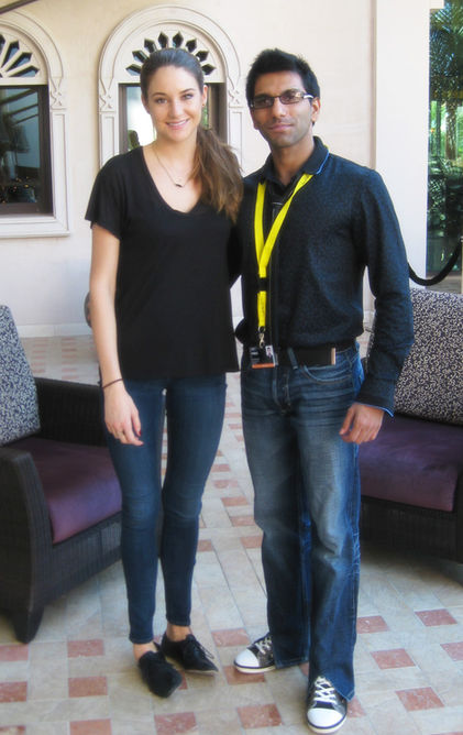 Faraz Javed with Shailene Woodley