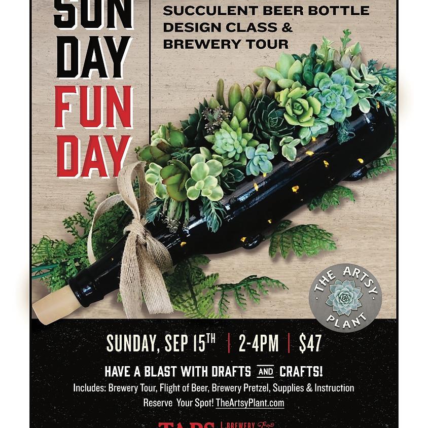SunDay FunDay  --  DIY Illuminated Succulent Bottle Workshop