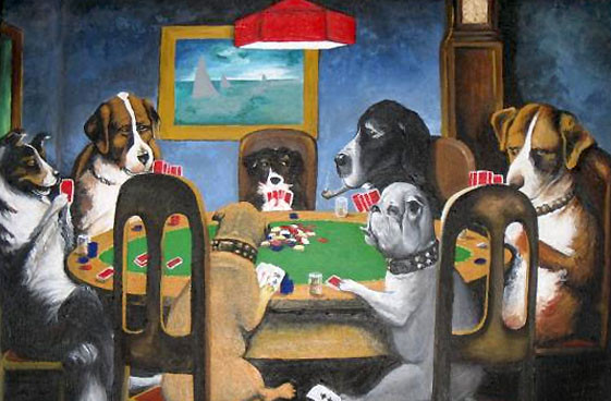 Dogs Playing Poker Commission