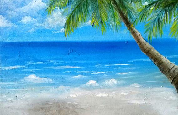 Oil Beach painting