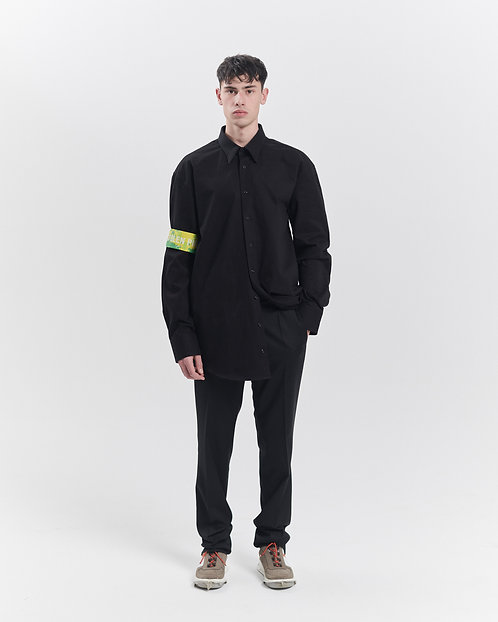 BLACK OVERSHIRT WITH REPLACABLE SCARVES