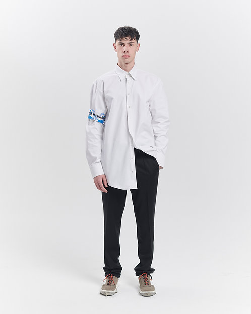 WHITE OVERSHIRT WITH REPLACABLE SCARVES