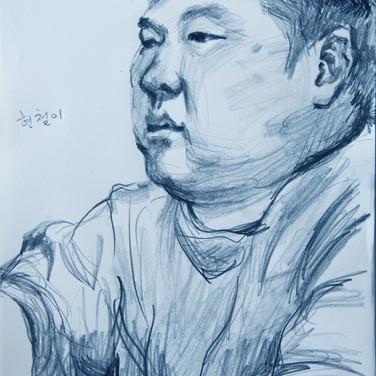 2017.7.10소성리연대자 조현철_연필드로잉_정진석