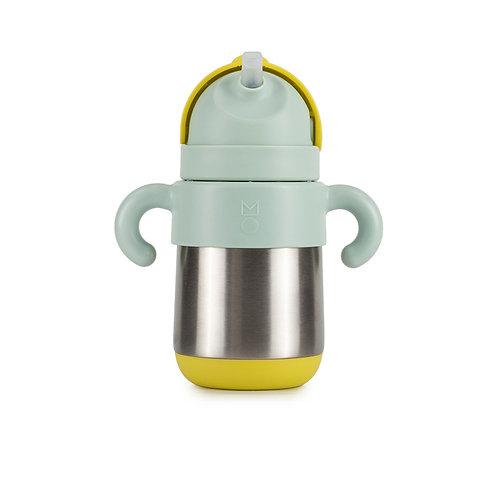 meroware MATT thermal straw bottle - Lemon + Mojito