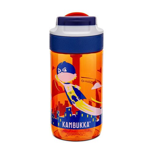 Kambukka Lagoon Kids Water Bottle (Tritan) 14oz (400ml) - Flying Superboy
