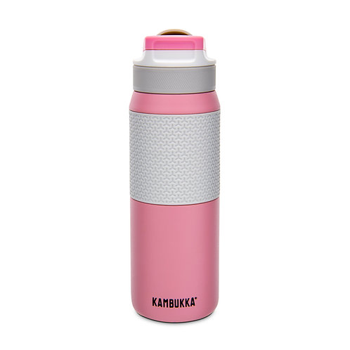 Kambukka Lagoon Insulated Water Bottle w/TPE Sleeve (SS) 25oz (750ml) - Pink